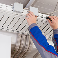 Commercial Electrician Denver: Lighting & Fire Alarms | Electric Blue - office