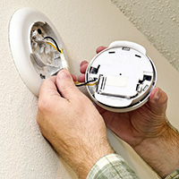 Commercial Electrician Denver: Lighting & Fire Alarms | Electric Blue - smoke